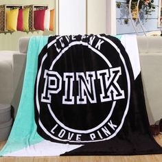 "Victoria's Secret Inspired ""Love Pink"" Super Soft Plush Fleece Throw Blanket Measures: 130cmx150cm (51in X 59in) Material: 100% Polyester, Fleece Fabric Add a Victoria's Secret Ribbon for $2.99. 1 yar"