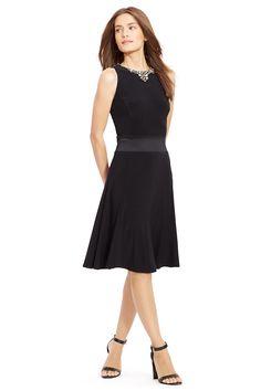 f1ff46561a52c5 Lauren Ralph Lauren Fit-And-Flare Jersey Dress Women - Dresses - Macy's