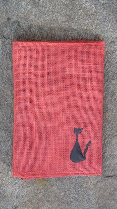 Red burlap notebook cover.   For custom order please contact @ nikoocreations@gmail.com