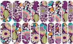 Violet Fleur   Jamberry NAS #floral #flower #nailart #easynailart #DIYNailart #nailwraps #Jamberry #nailartstudio