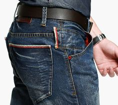 Its Regular fit cut sits nicely with your body. Mens Fashion Wear, Denim Fashion, Blue Jeans, Denim Jeans, Vintage Denim, Calvin Klein Jeans, Slim, Casual Wear, Men's Clothing