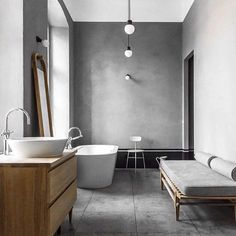 Lusting over the concrete in this bathroom uniquely luxurious just makes me want to jump right in. Speaking of jump right in Wednesday tomorrow where's the week gone. #freeshipping #interiordesigninspiration #interiordecorating #homedecor #luxurygifts #giftbox #corporategifts #interiorstyling #womaninbusiness #theluxurygiftco #homedesign #madeinmelbourne #stylingideas #art #inspiredbynature #kinfolkhomebook #kinfolkhome #livingroom #scandanavian #mothersdaygift #homeaccessories…