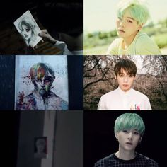 I think the first one is definitely Suga... The second one tbh could be anyone... The third is probably Suga but who really knows... All I know is BIGtIT likes to make us suffer and thats it... Lolilolil ❤ (WHO IS WHO? In the WINGS Short Film 1) #BTS #방탄소년단