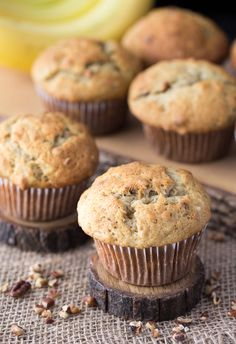 Delicious recipe for banana nut muffins.