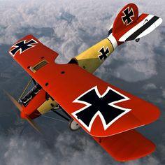 Vintage Aircraft Biplane Fighter Aircraft Albatros D III Ww2 Aircraft, Fighter Aircraft, Military Aircraft, Fighter Jets, Airplane Painting, Airplane Art, Luftwaffe, Fokker Dr1, Vintage Airplanes