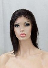 Reasonable 10Inch Silky Straight Remy Human Hair Full Lace Wig