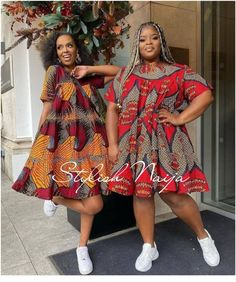 Trending and Fascinating Ankara Styles for Jolly Good Friends - Stylish Naija Ankara Short Gown Styles, Short Gowns, Hello Ladies, Color Change, Best Friends, Beautiful Women, Stylish, Lady, Pattern