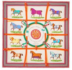 Hermes Scarf Shawl Couverture-orange Cashmere GM Wrap