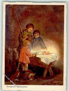 Nr. 39 Verlag Henke - Kinder an der Krippe - Gesegnete