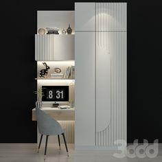 Rendered Plans, Bookcase Door, Walking Closet, Home Budget, Wardrobe Design, New Home Designs, Apartment Design, Modern Interior, Kids Bedroom