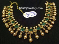 emeralds polki necklace