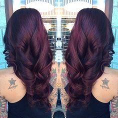 This is a Rich & Deep Cherry-brown Hairstyle-️Stylish Eve