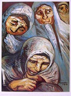 Mujeres de Chilpancingo, de David Alfaro Siqueiros.