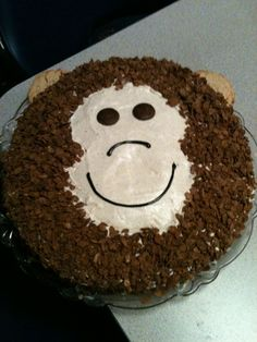 My monkey Cake I made for my little sisters birthday