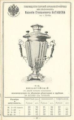 Оригинал взят у humus в Прейскурант самоварной фабрики В.С Баташева