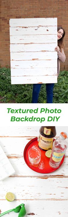 How to make a distressed wood photo backdrop