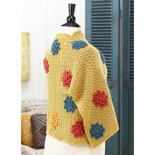 Ombre Wrap Pattern- Available from WillowYarns.com -This colorful wrap is as easy and fun to make as it is to wear. You'll crochet the motifs separately, then sew them to the wrap. Easy crochet wrap