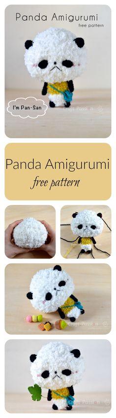 Loving this free panda amigurumi crochet pattern of Pan-San.