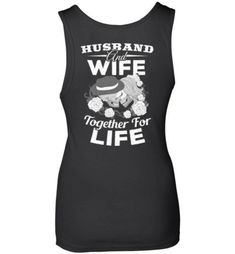 Husband And Wife Together For Life Husband & Wife Skull T-Shirt - Snappy Creations Avocado Shirt, Colorful Hoodies, Husband Wife, Black And Navy, Tee Design, Love And Marriage, Direct To Garment Printer, Skull, T Shirts For Women