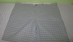 Men's GREG NORMAN Casual Golf Flat Front  Shorts Sz 44 - Gray  Plaid #GregNorman #CasualShorts
