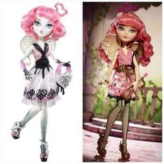 C.A. Cupid- Monster High vs Ever After High looks