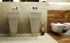 Stone sinks - Lux4home™, Model: CRL142 Marble Cream.     Kamienne umywalki wolnostojące Lux4home™.