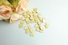 3cm (150pcs/lot) Wood Heart Love Blank Unfinished Natural Crafts Wedding Decoration - Wedding Look