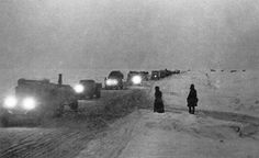 """January 22, 1942 Siege of Leningrad In Leningrad, the mass evacuation of civilians begins via the """"ice road"""" across Lake Ladoga. (About 440,000 people are transported out of Leningrad between January 22nd and April 15th, 1942.) Meanwhile, Soviet forces recapture Uvarovo, 32km west of Mozhaisk."""