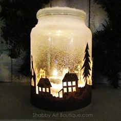 Easy Mason Jar Christmas Crafts that are as pretty as they are fun – christmas decorations Mason Jar Christmas Crafts, Christmas Lanterns, Handmade Christmas Decorations, Cozy Christmas, Christmas Centerpieces, Jar Crafts, Diy Christmas Gifts, Christmas Projects, Jar Centerpieces