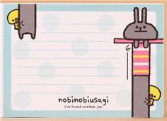 pink rabbit chick memo pad by Kamio 5