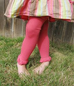 This Thrifty House: Little Lady Leg Warmers