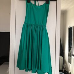 6a137c69da American apparel green halter neck skater dress 👗 Slinky - Depop - 10  Halter Neck