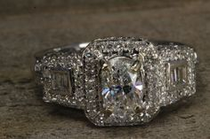 Just Made! 14K White Gold Diamond Engagement Ring 1.90 TCW by RocktheDiamond on Etsy