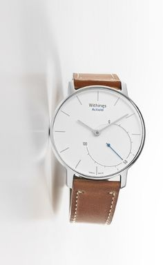 The Withings Activité is a Swiss-made timepiece that monitors steps taken, calories burned, distance traveled and sleep patterns.