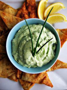 Creamy Kale & Avocado Dip- swap sour cream for non-fat Chobani!