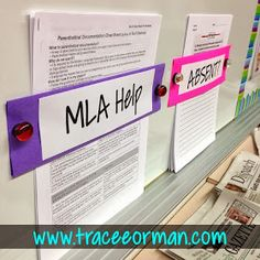 Easy classroom organization for make-up work and other handouts. www.traceeorman.com