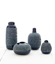 Adam Silverman's Hybrid Bud Vases - Midnight Group, for Heath Ceramics