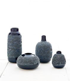 Adam Silverman's Hybrid Bud Vases - Midnight Group, for Heath Ceramics