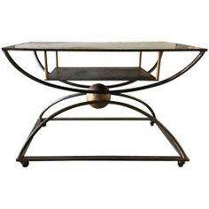Graphic Postmodern Steel Table