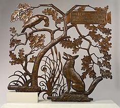 Paul Howard Manship | Paul Howard Manship. The Fox and the Crow. bronze gate commissioned ...