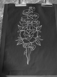 Tattoo flash #traditional tattoo #dagger tattoo #tattoo idea #neo traditional tattoo # rose tattoo