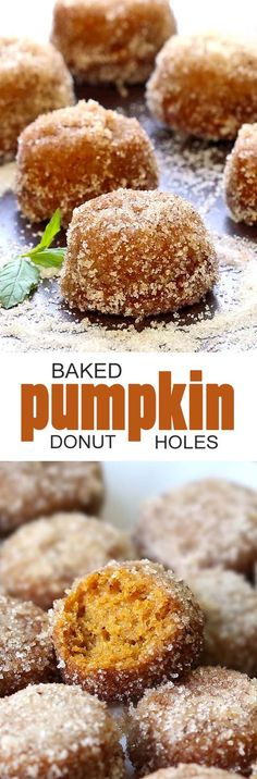 Fall breakfast doesn't get much better than these Baked Pumpkin Donut Holes!