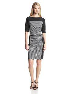 Gabby Skye Women's Elblow Sleeve Side Gathered Dress, Black/White, 8 Gabby Skye,http://www.amazon.com/dp/B00GFVN758/ref=cm_sw_r_pi_dp_Ydtgtb1CMBDMJ9CD
