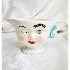Bailey's 1996 Creamer, Bailey's Advertising Face Creamer, Bailey's... ($6.95) ❤ liked on Polyvore featuring home, kitchen & dining, serveware, almond creamer, cream server, cream pitcher and cream jug