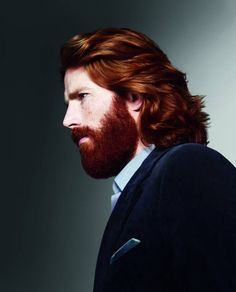 Jamie Fraser?  (I HATE this beard...but I have never seen such beautiful red hair on a man before.  Do you think it's real?)