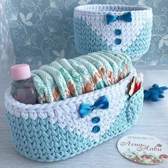 Embroidery for Beginners & Embroidery Stitches & Embroidery Patterns & Embroidery Funny & Machine Embroidery Crochet Bowl, Crochet Basket Pattern, Knit Basket, Knit Crochet, Crochet Patterns, Crochet Home Decor, Crochet Handbags, Embroidery For Beginners, Crochet Gifts