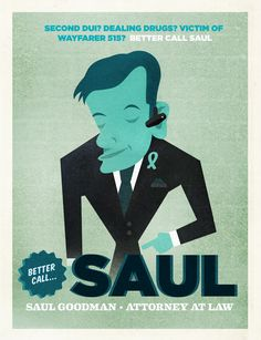 Saul Goodman poster (Breaking Bad) from fakeanything.com