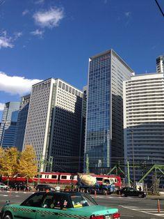 Buildings in Tokyo.