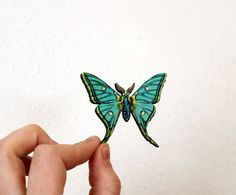 Insect Butterfly Pin Nature Brooch Woodland Insect by mintmoose, $15.00