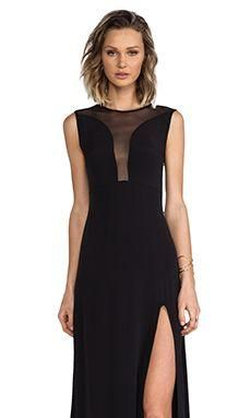 For Love & Lemons Lulu Maxi Dress in Black